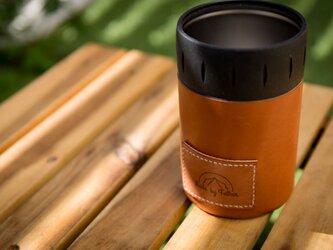 サーモス保冷缶レザーカバーの画像