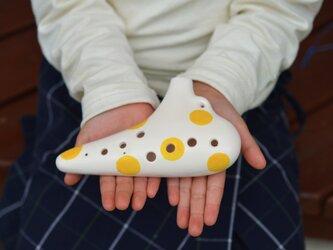 はじめてのオカリナ 子供のための指先能力向上やプレゼントに♪(ドット color:Yellow)の画像