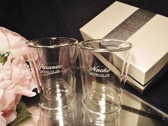 ペアサーモロックグラス(名入れ彫刻)化粧箱の画像