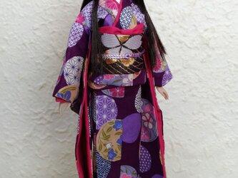 27cmドール着物 艶紫の手毬唄の画像