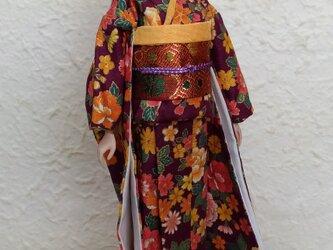 27cmドール着物 黄花爛漫の画像