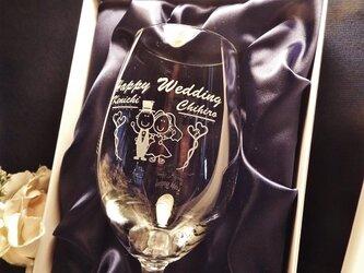 ワイングラス彫刻!選べる11種類デザイン(化粧箱)の画像