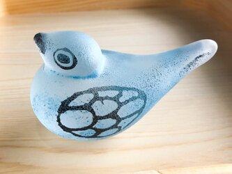ガラスの鳥(青)の画像