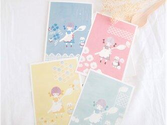 童話の森のティータイム*ポストカード4枚セットの画像