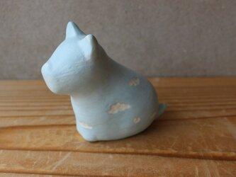 陶 オブジェ 空シリーズ  犬  レオ 花器の画像