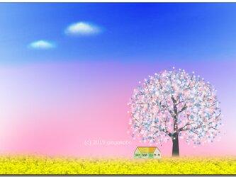「春だよん^^」 ほっこり癒しのイラストポストカード2枚組No.727の画像