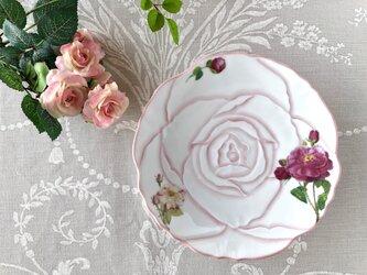 アンティーク風 ローズのケーキプレート(ピンク)の画像
