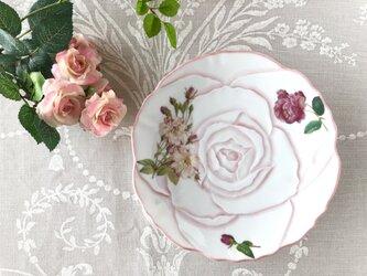 アンティーク風 ローズのケーキプレート(ホワイト)の画像
