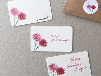 カーネーションのメッセージカード サンキューカード 20枚の画像