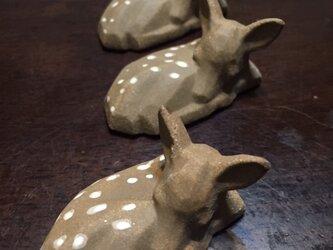 小鹿バンビ、 置物、3個セットの画像