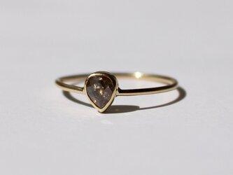 Natural Darkbrown Diamond  Ring / K18YGの画像