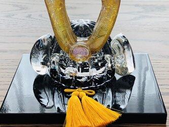 福ぷくガラスの兜 水中黒輝(端午の節句)五月人形の画像