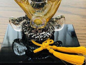 福ぷくガラスの兜 水中黒輝2(端午の節句)五月人形の画像
