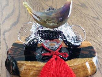 ガラスの兜 濃藤(端午の節句)五月人形の画像