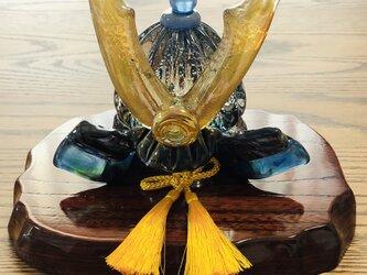 福ぷくガラスの兜 水中蒼輝2(端午の節句)五月人形の画像