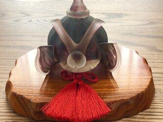 ガラスの兜 小豆影(端午の節句)五月人形の画像