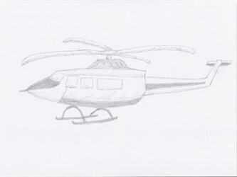 ヘリコプター 手描きイラストの画像