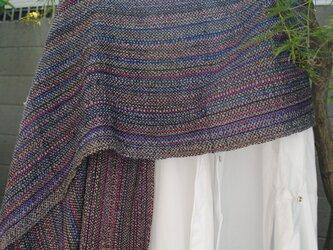 シルク 手織ストールEの画像