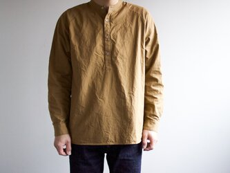 MENS/weather cloth shirt/brown/size2の画像
