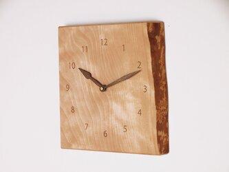 木製 掛け時計 カバ材1の画像