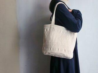 mosaic 手織り布のトートバッグ Sサイズの画像