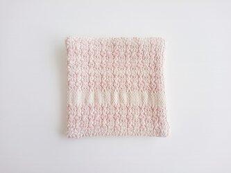 mosaic 手織り布のコースター 蘇芳の画像