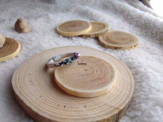 ふんわり優しい染め布リング つる草 PuBlの画像