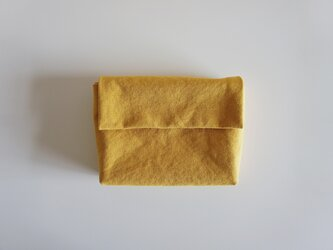 きちんとポーチ L  / mustardの画像