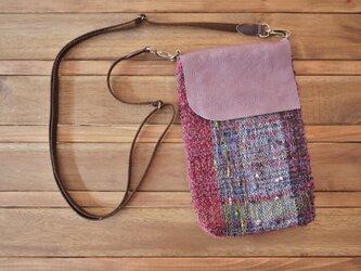 手織り スマホポシェットの画像