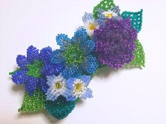 バレッタ Bouquet  (パープルダリア)の画像