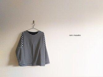 3月の服*ボーダーのカットソー*スウェットの画像