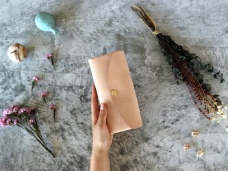 ヌメ革(栃木レザー)_ナチュラル◆外装◆おとな財布◆三つ折りの画像