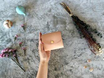 ヌメ革(栃木レザー)_ナチュラル◆外装◆こども財布◆三つ折りの画像