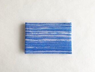絹手染カード入れ(横・マット青系)の画像