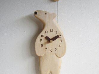 ポーラベア 掛け時計の画像
