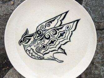 【Sold out】コタンコロカムイ 皿 白 アイヌ (パスタ皿サイズ)の画像