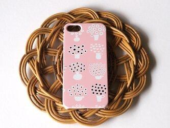 【iPhone/Android】側表面印刷*ハード型*スマホケース「flower base (pink)」の画像