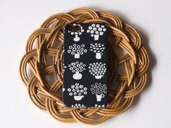 ハード型スマホケース flower base (charcoal)【iPhone/Android 各機種対応】の画像