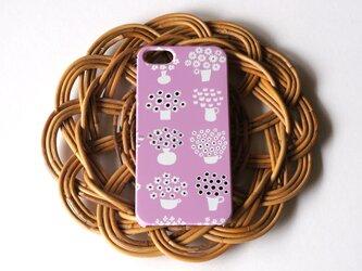 ハード型スマホケース flower base (lavender)【iPhone/Android 各機種対応】の画像