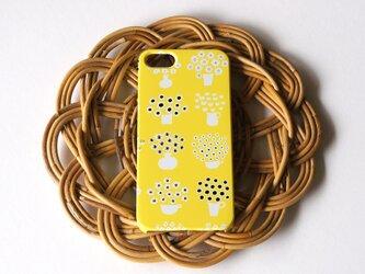 ハード型スマホケース flower base (yellow)【iPhone/Android 各機種対応】の画像