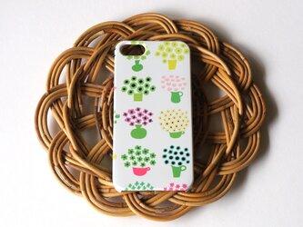 ハード型スマホケース flower base (mix green)【iPhone/Android 各機種対応】の画像