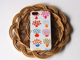 ハード型スマホケース flower base (mix red)【iPhone/Android 各機種対応】の画像