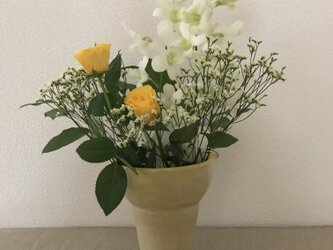 花器 黄色の画像
