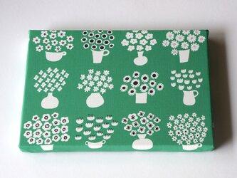 flower base (green) ファブリックパネルの画像