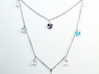 Heart Chandelier Necklace / Swarovski Crystalの画像