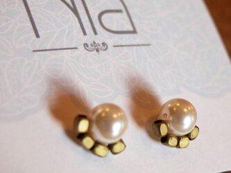 Gold&Pearl ピアスの画像