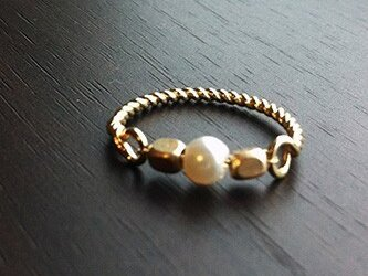 Gold&Pearl Ringの画像