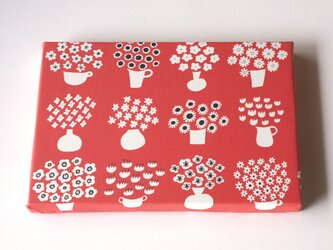 flower base (red) ファブリックパネルの画像