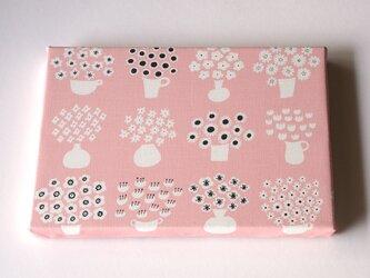 flower base (pink) ファブリックパネルの画像