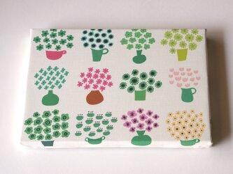 flower base ( mix green ) ファブリックパネルの画像